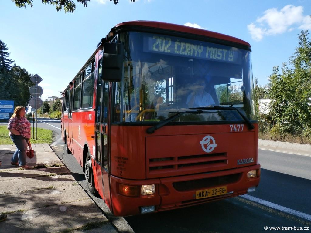 linka 202 Karosa B 931E Letecké opravny 2014