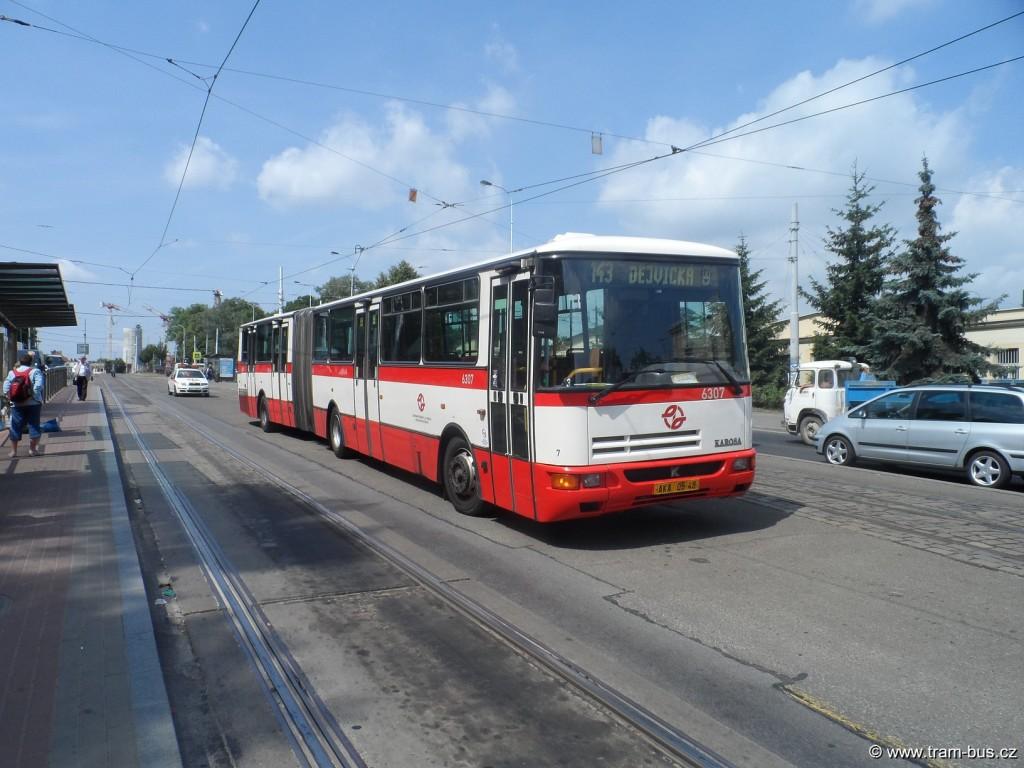 linka 143 Karosa B 941 Vozovna Střešovice 2014