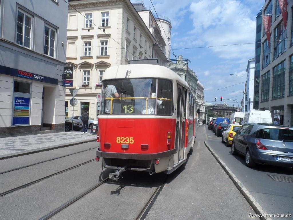 linka 13 Tatra T3R.P Muzeum 2014