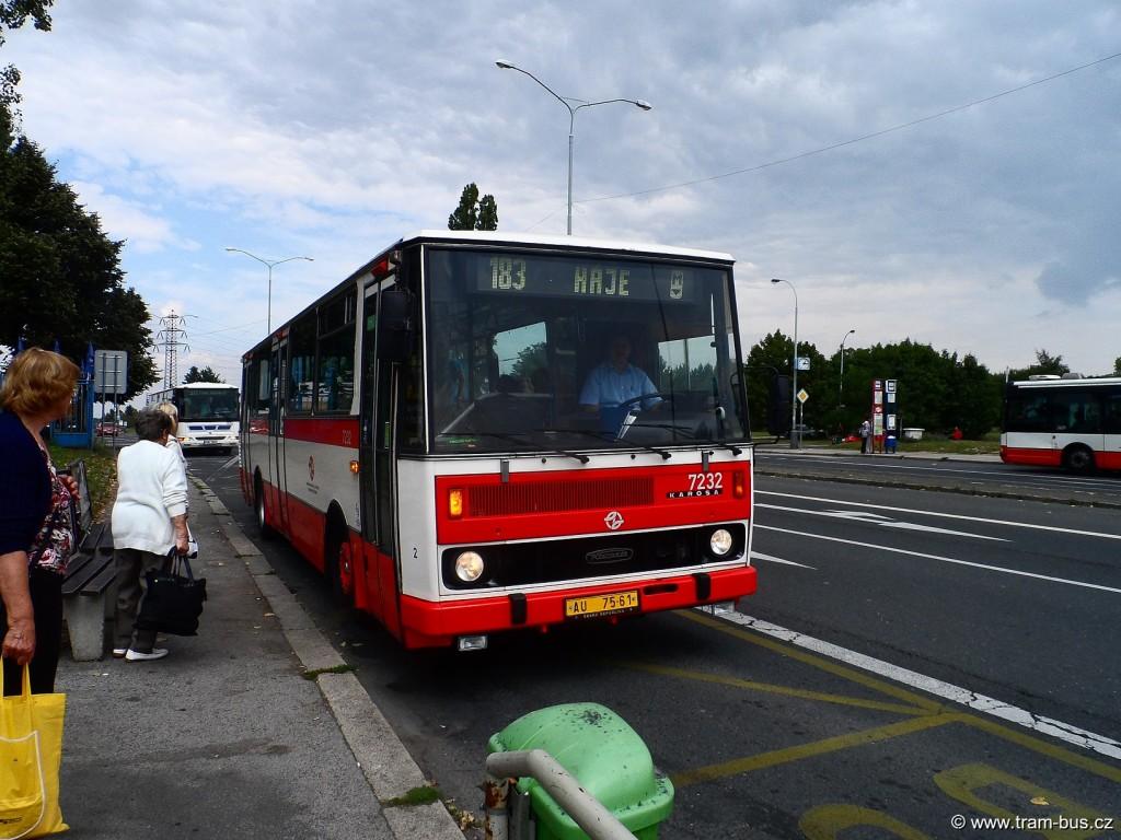 linka 183 Karosa B 731 Vozovna Kobylisy 2014