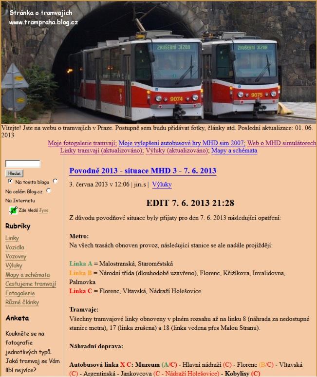 stránky www.trampraha.blog.cz