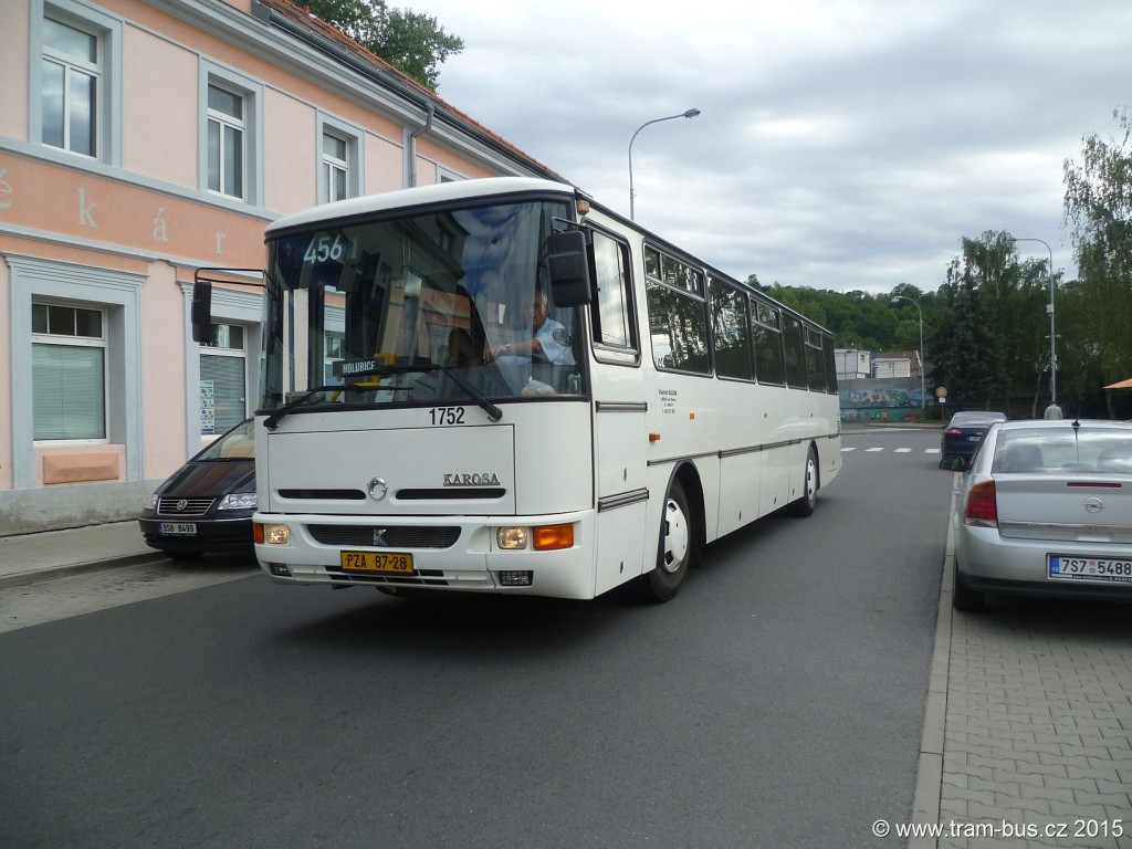 076 - linka 456 Kralupy n.Vlt.,,žel.st. Vlastimil Slezák Karosa C 954 1752