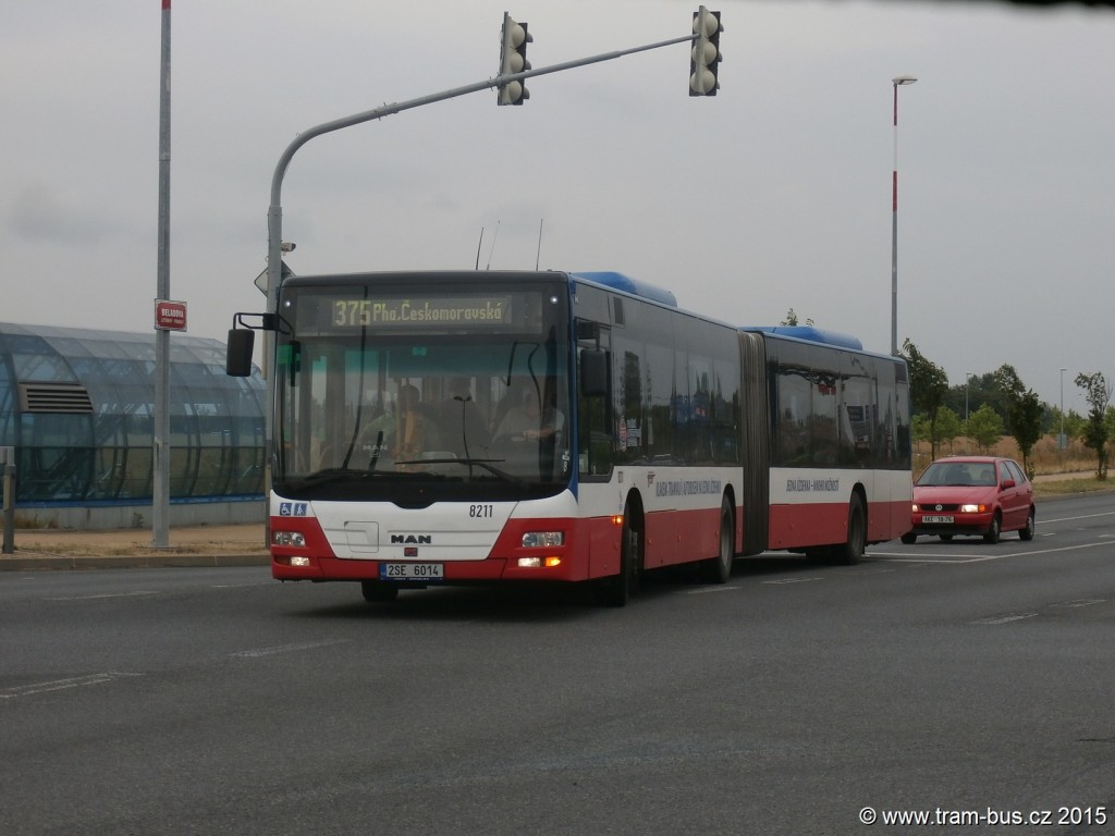 4601 - linka 375 Letňany ČSAD SČ Man Lion´s City G 8211