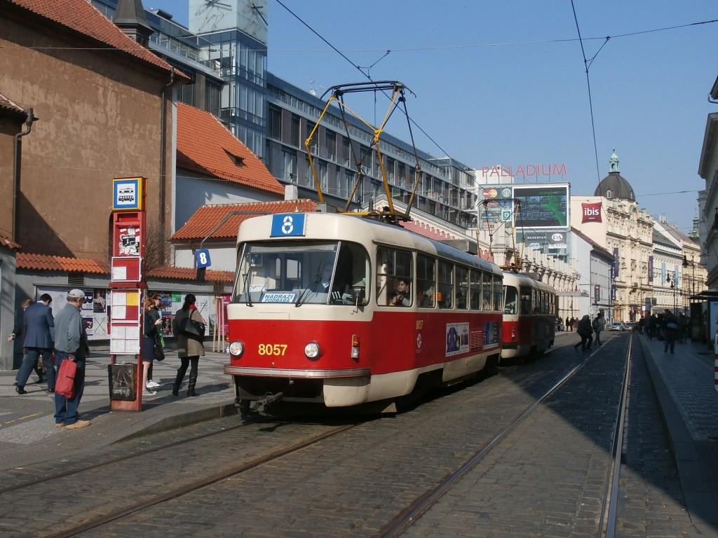 3489 - linka 8 DPP Náměstí Republiky Tatra T3M 8057