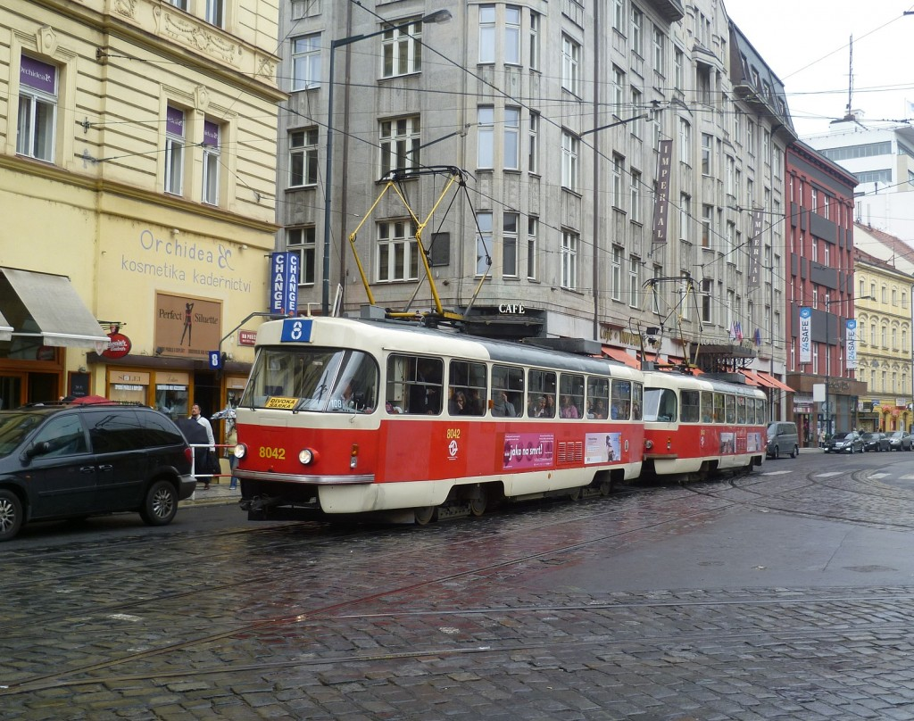 4278 - linka 8 Náměstí Republiky DPP Tatra T3M 8042