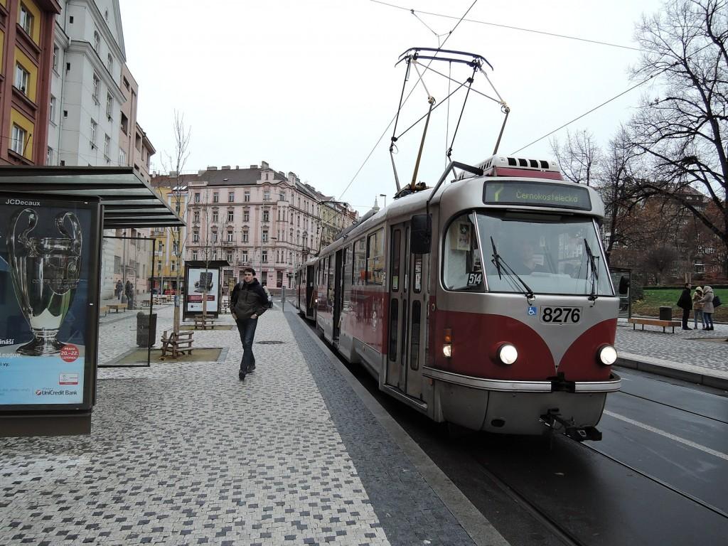 4961 - linka 7 Čechovo náměstí DPP Tatra T3R.PLF 8276