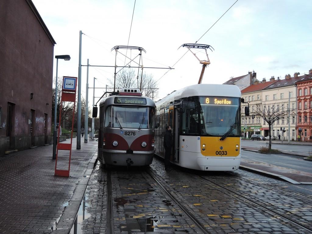 5400 - linka 6 Smíchovské nádraží DPP EVO1 0033 a T3R.PLF 8276