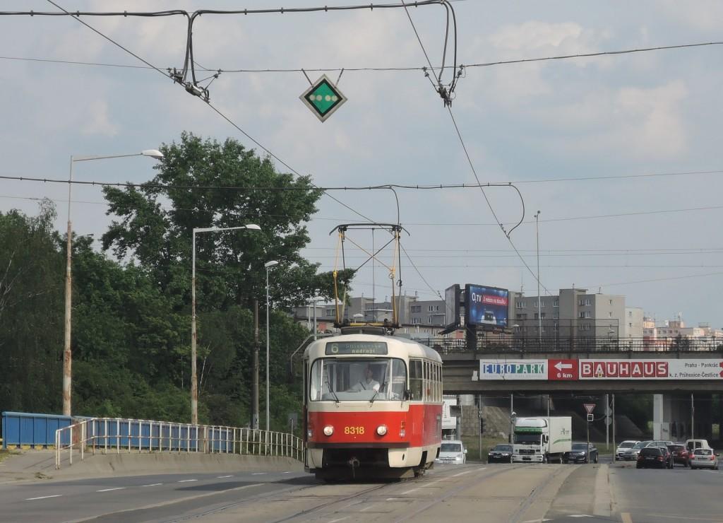 6371 - linka 6 Teplárna Michle DPP Tatra T3R.P 8318