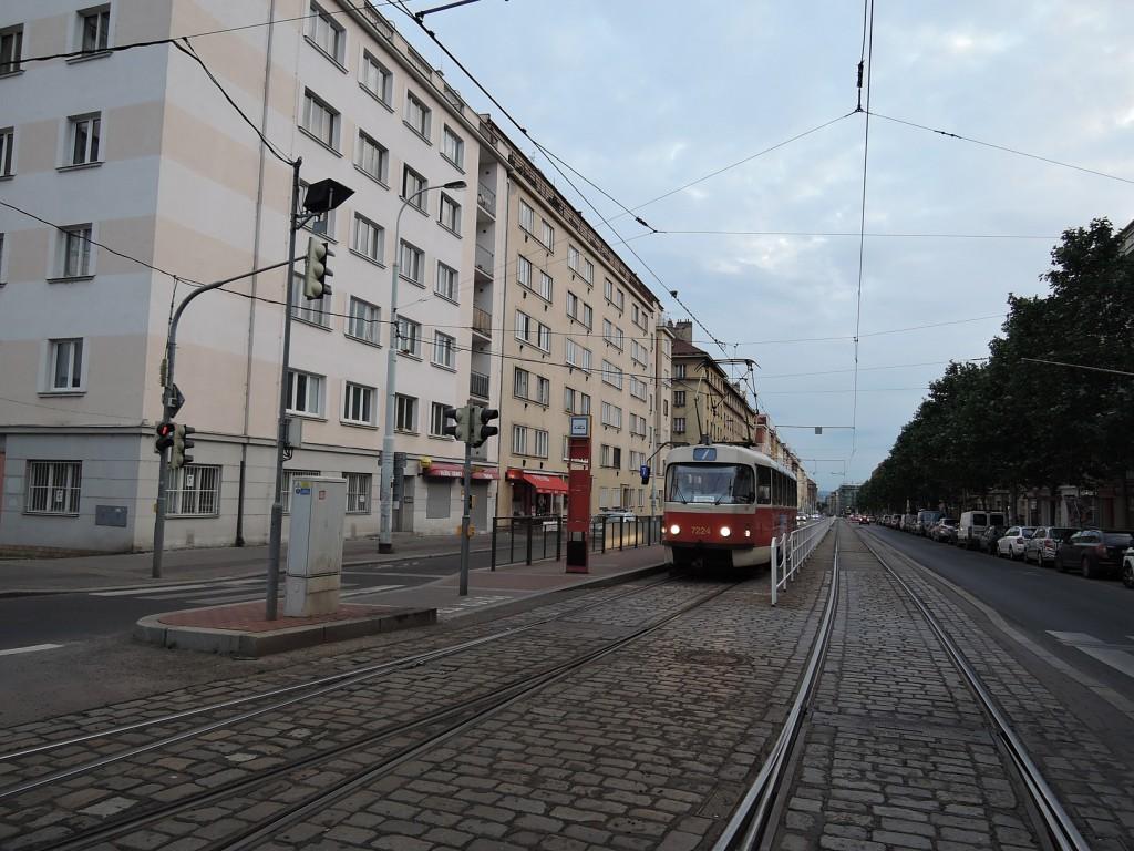 6549 - linka 7 Vozovna Žižkov DPP Tatra T3SUCS-DVC 7224