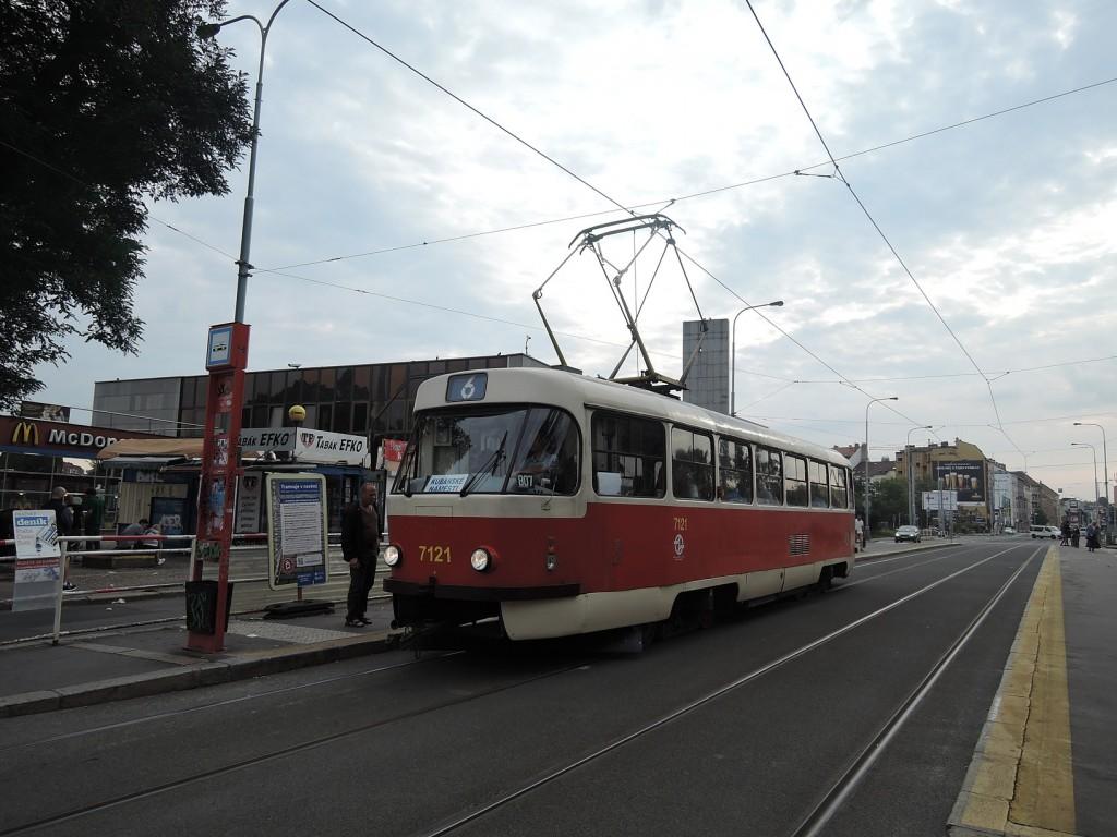 6730 - linka 6 Nádraží Holešovice DPP Tatra T3SUCS 7121