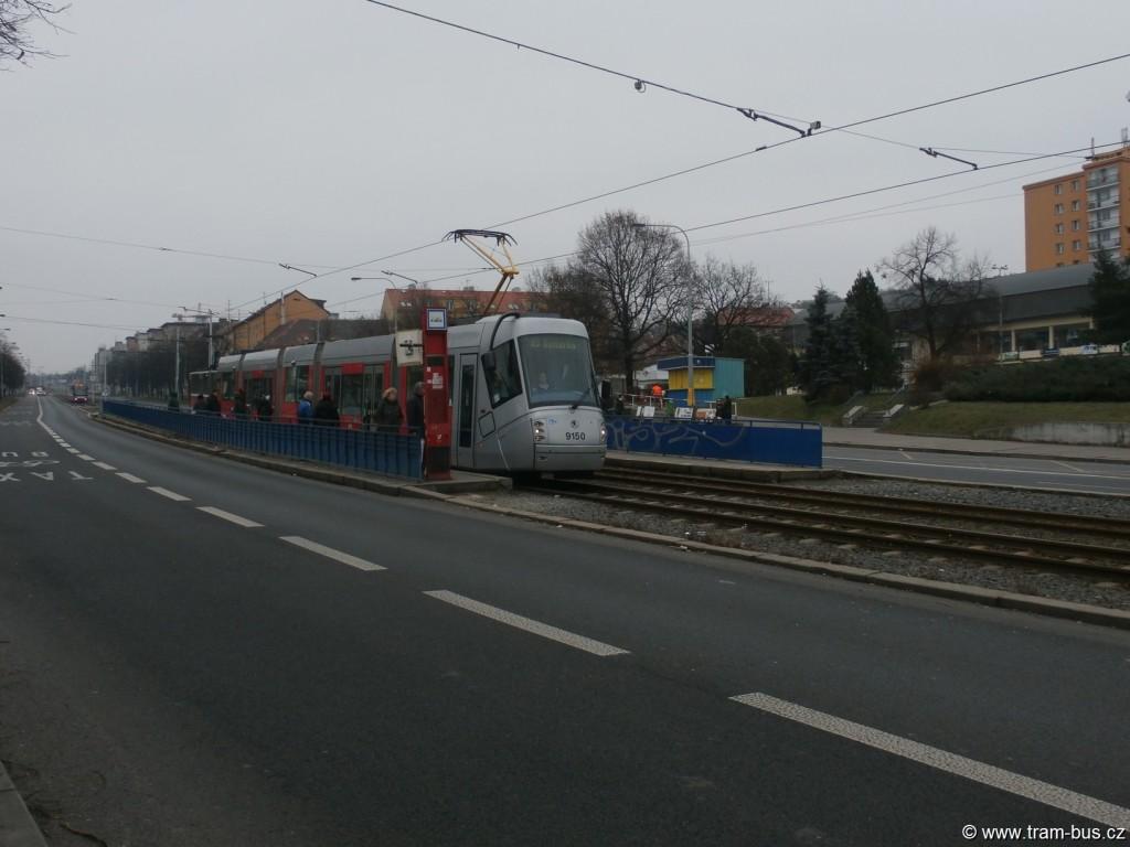 linka 16 Škoda 14T Hloubětín 2015