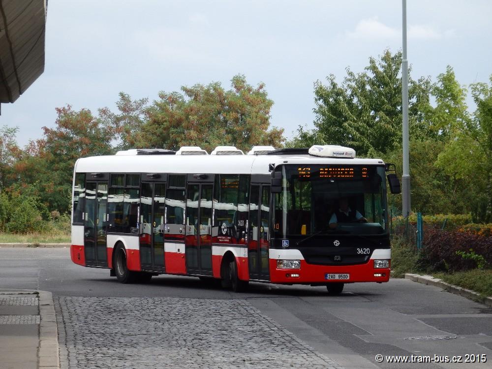 linka 143 Nové Butovice DPP SOR NB 12 3620