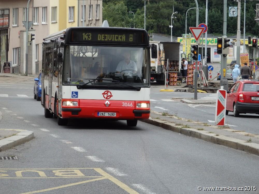 linka 143 Klamovka DPP Irisbus Citybus 12M 3046