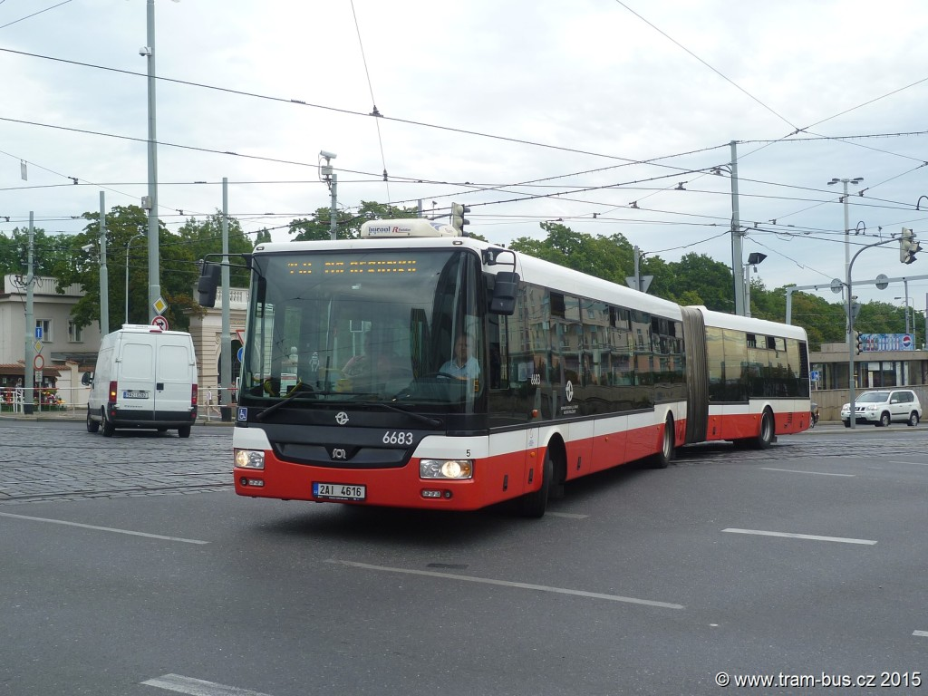 4221 - linka 150 Želivského DPP SOR NB 18 6683
