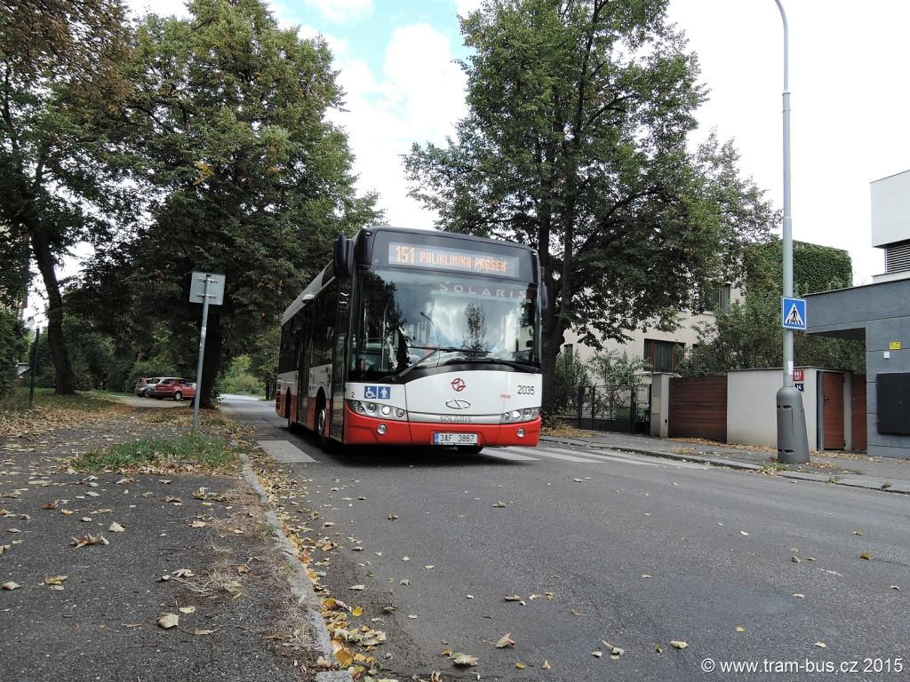 4554 - linka 151 Klíčovská DPP Solaris Urbino 8.9 LE 2035
