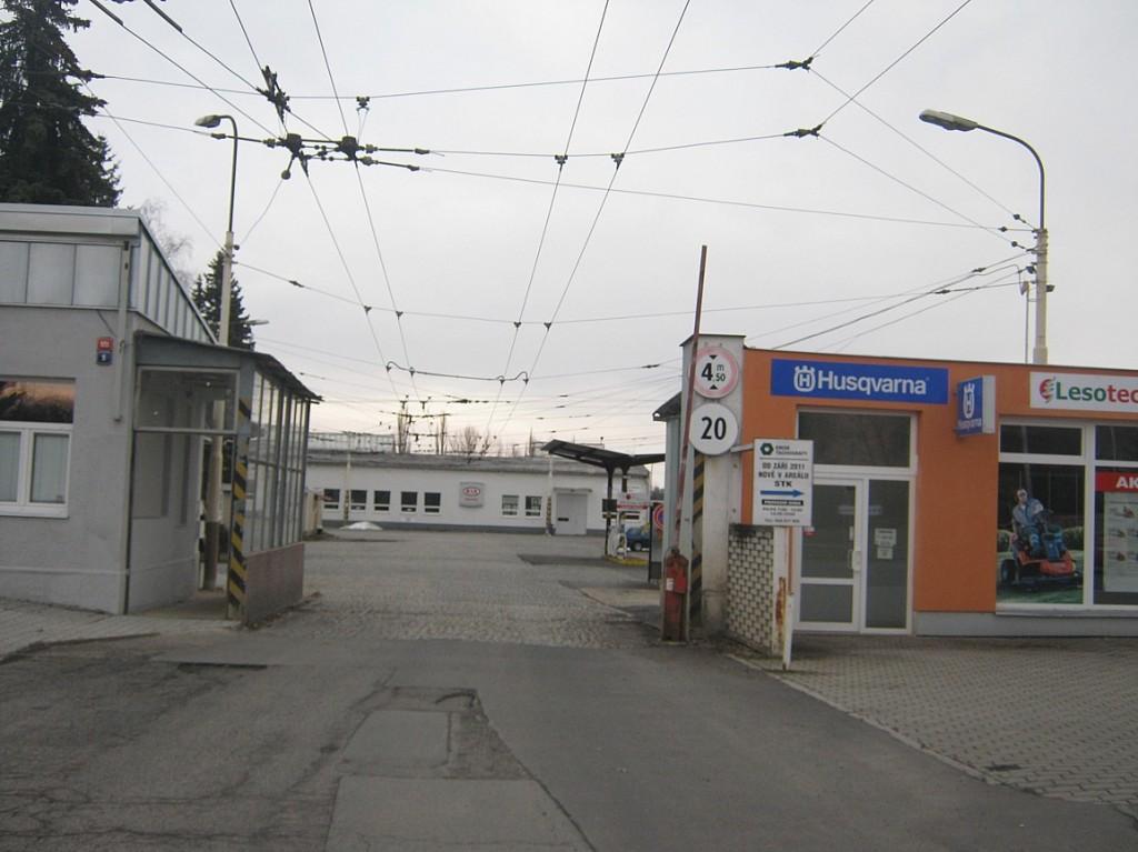 vozovna trolejbusů