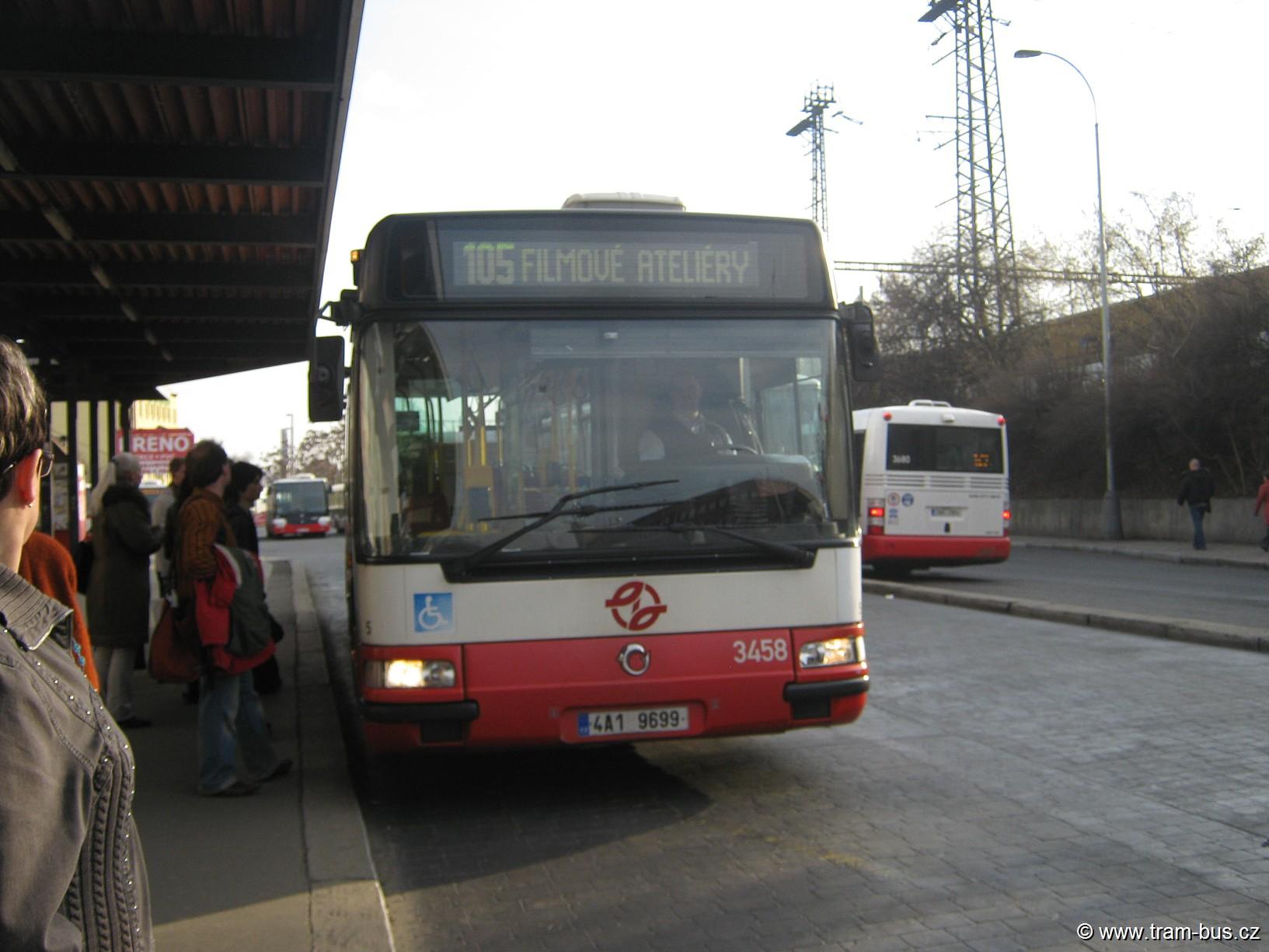linka 105 Citybus Smíchovské nádraží
