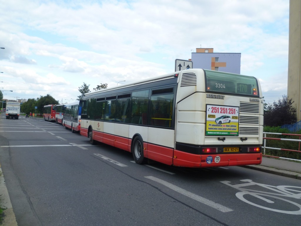 4345 - zastávka Horčičkova linka 170 DPP Irisbus Citybus 12M 3304