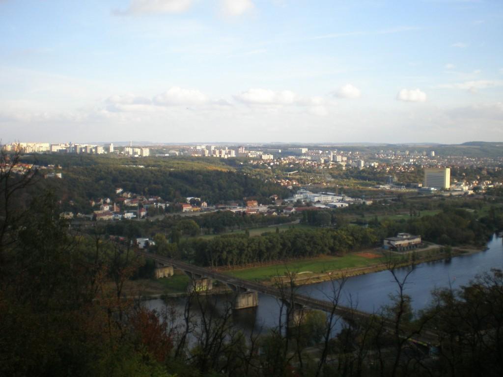 935 - pohled z okraje Barrandova na JV (dole most Inteligence)