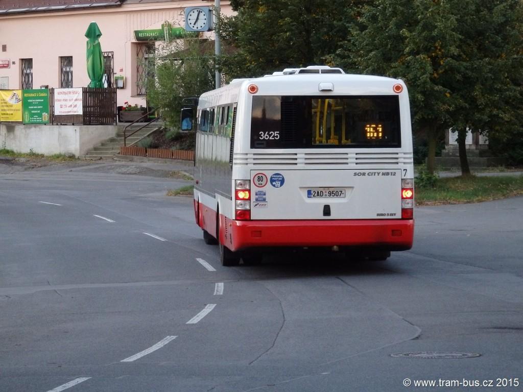 linka 161 Nebušice DPP SOR NB 12 3625