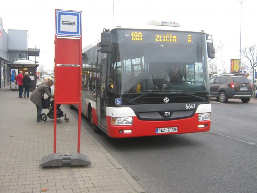 2351 - linka 180 Obchodní centrum Zličín DPP SOR NB 18 6641