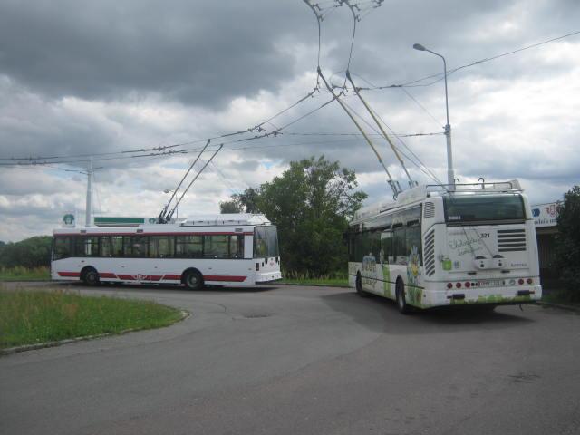 trolejbusy na konečné