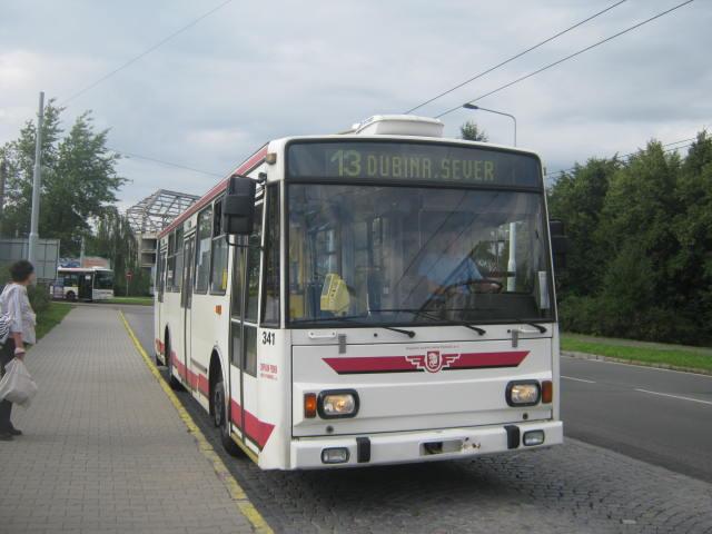Linka 13 jede směrem k Dubině.