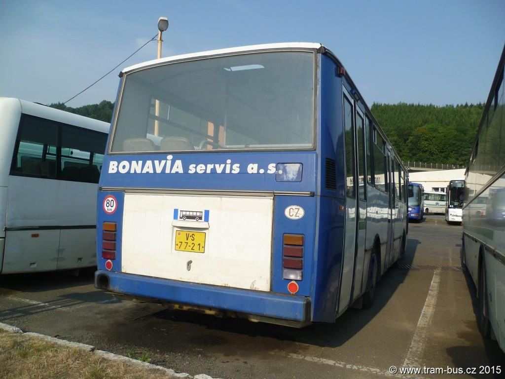 011 - garáže ČSAD Vsetín MHD Vsetín Karosa B 732 VS 77-21