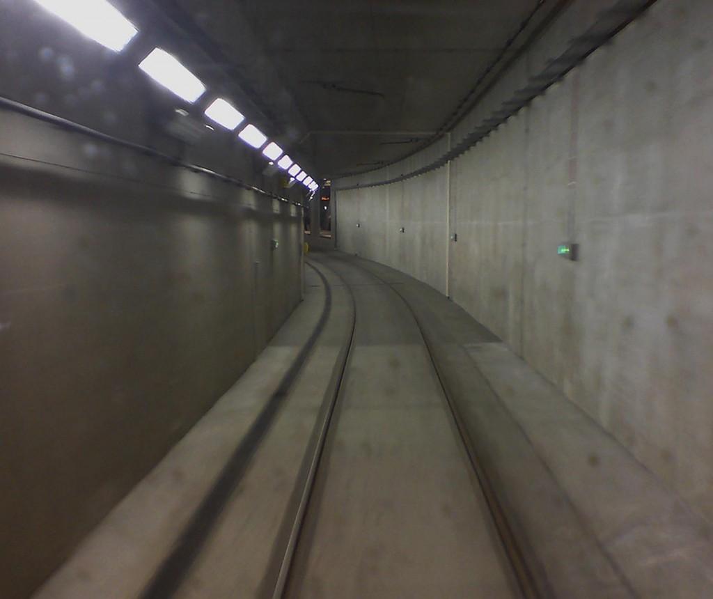 Krakov - tramvaje tunel
