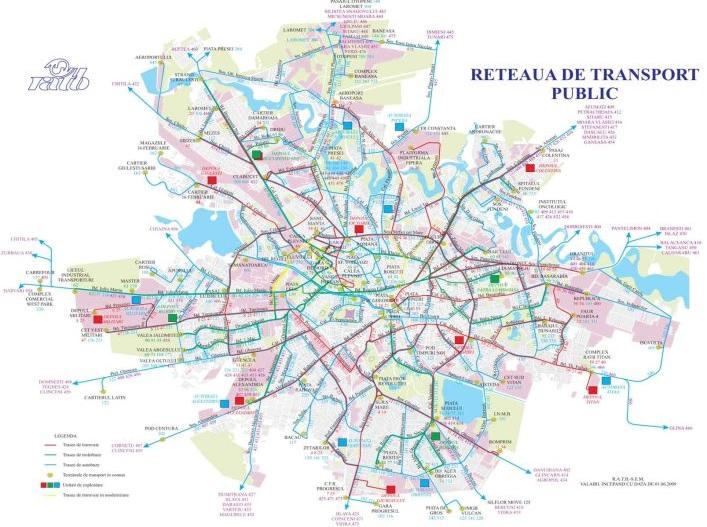 Dopravní schéma RATB