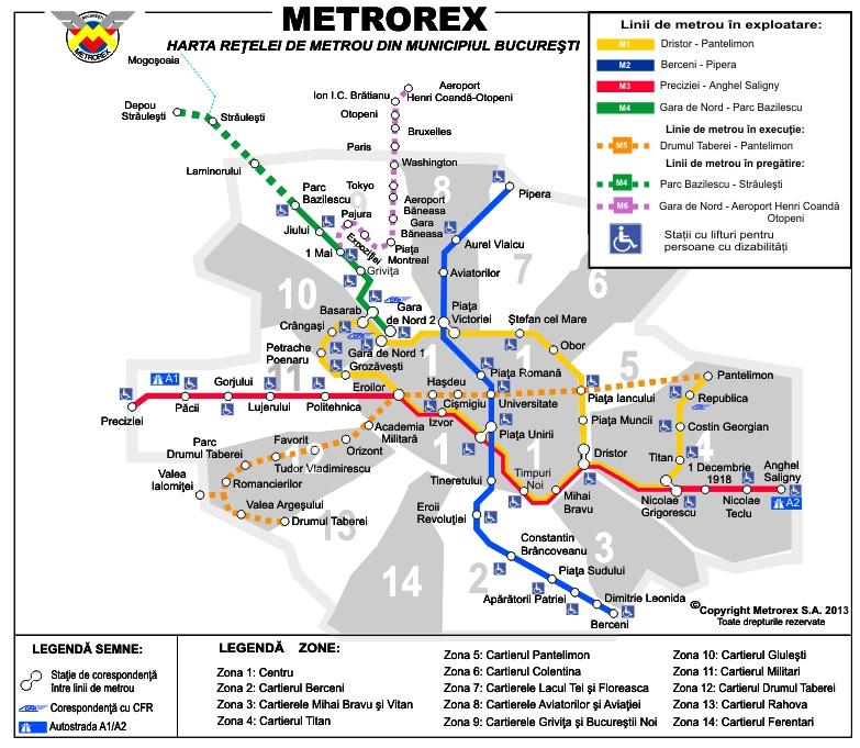 Dopravní schéma Metrorex (foto: Metrorex)
