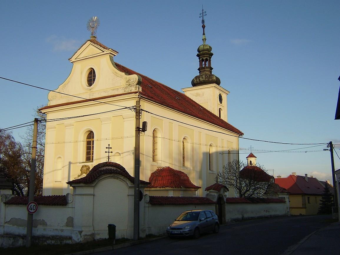 Středokluky - kostel svProkopa