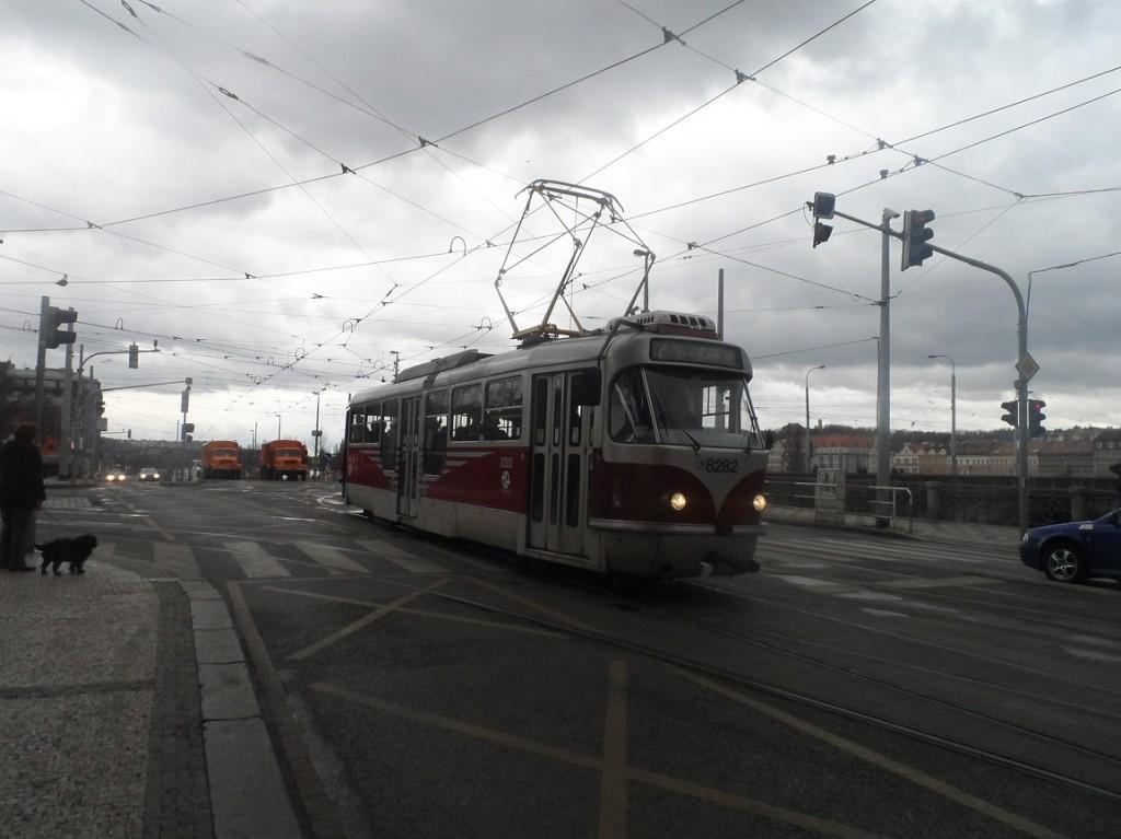 linka 7 u Palackého náměstí