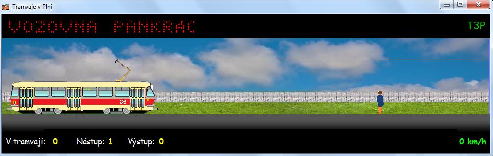 TramSim je po celou dobu stejný, jak vidíte na screenshotu.
