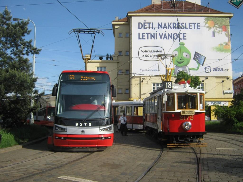 linka 18 na vozvně Pankrác