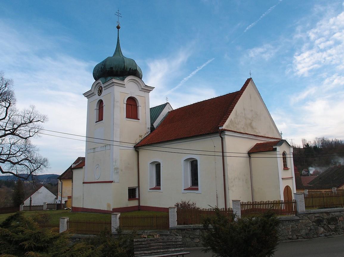 Postupice - kostel svMartina