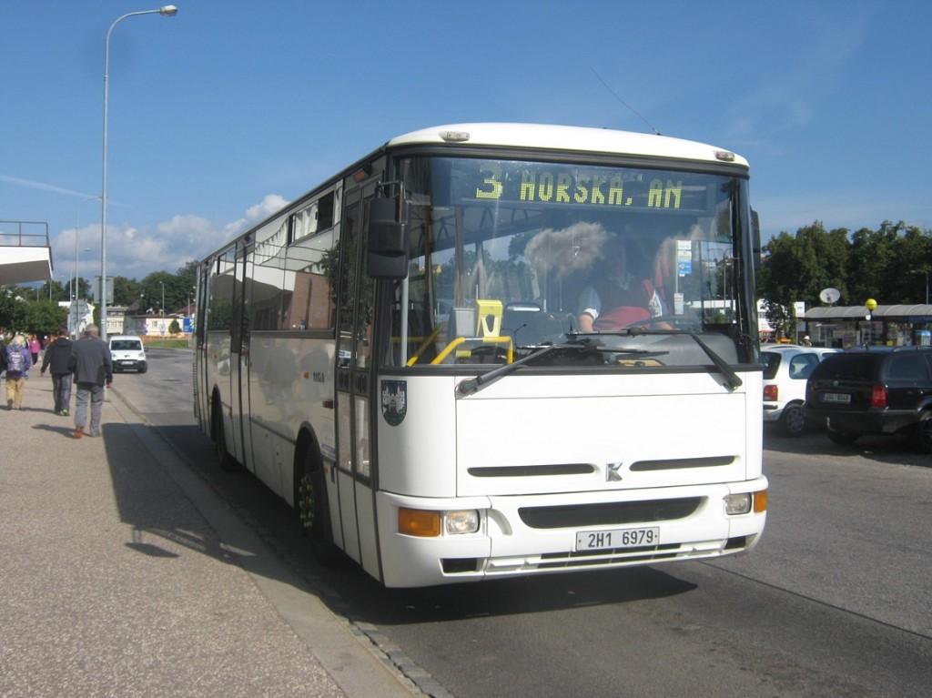 linka 3 na autobusovém nádraží
