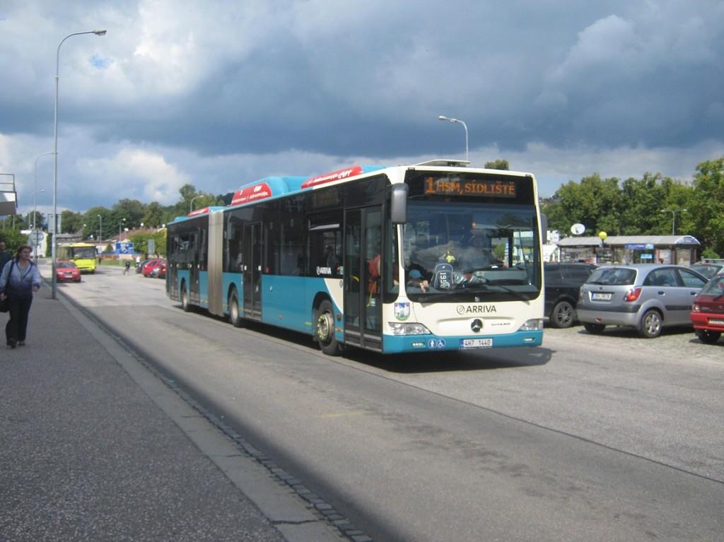 linka 1 na autobusovém nádraží