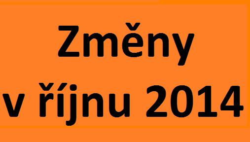 změny v říjnu 2014