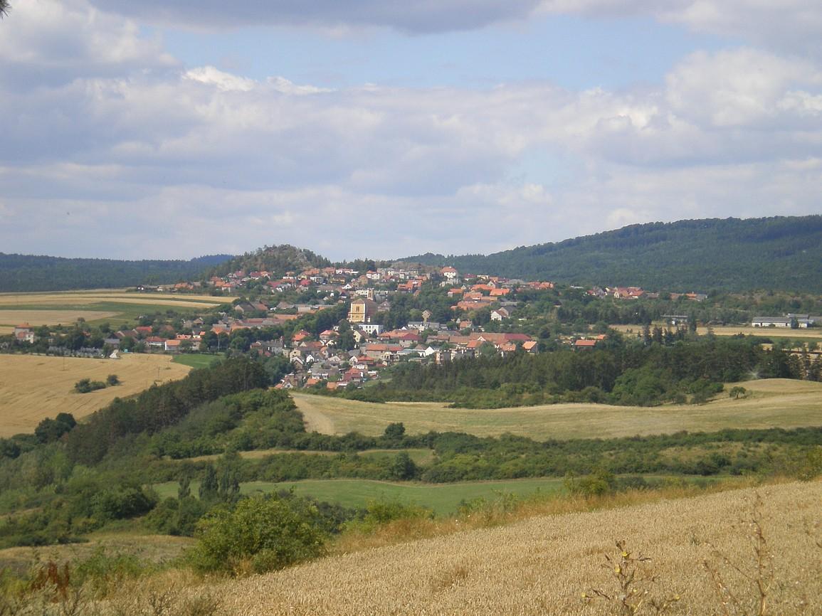 Pohled na Hudlice z východu