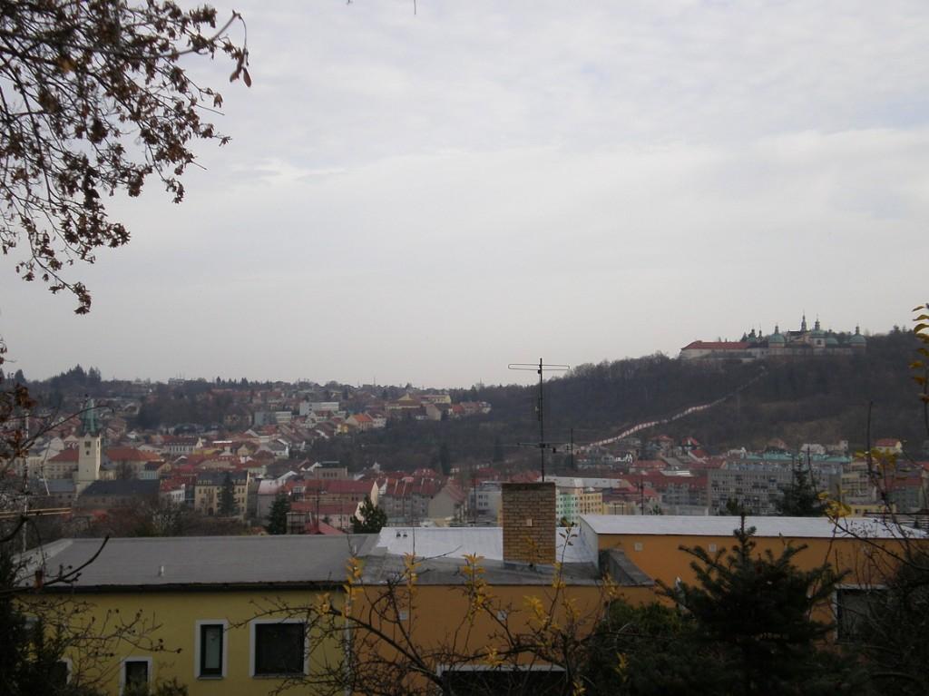 Pohled z Březových Hor na Příbram a Svatou horu