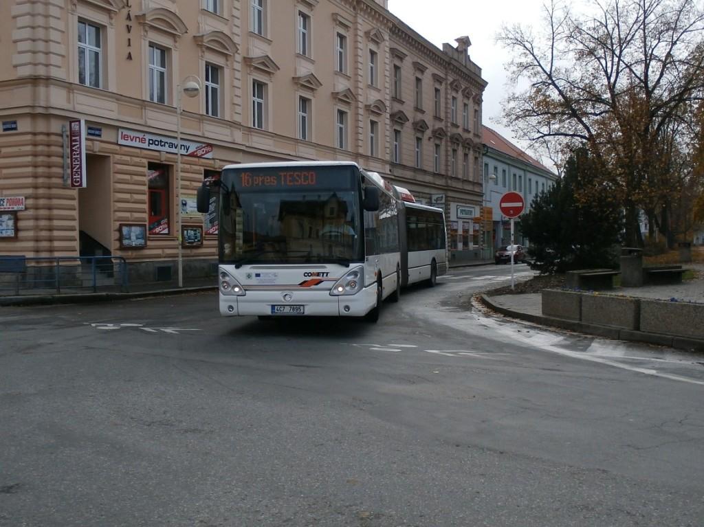 linka 16 na Autobusovém nádraží v Táboře
