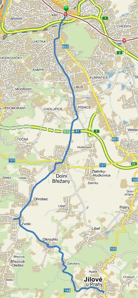 mapa linky 331 mapy.cz