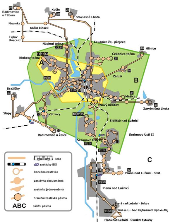 mhd tábor mapa