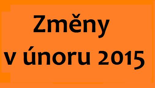 změny v únoru 2015