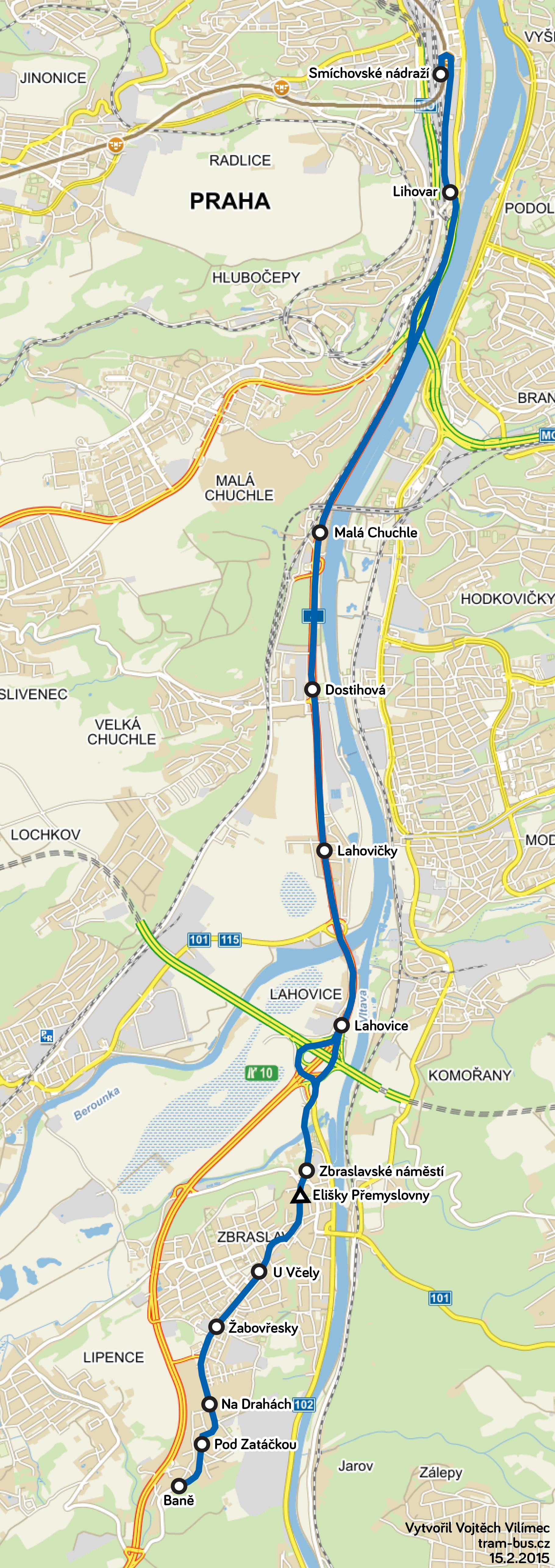 linka 129 mapa