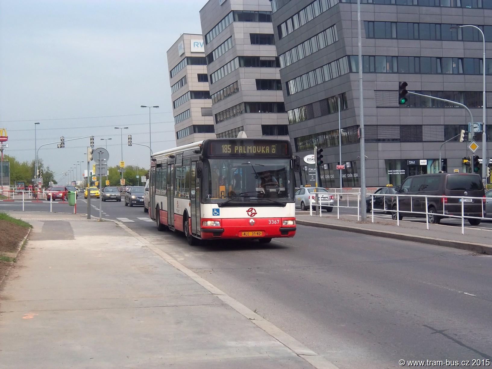 185 Citybus 3367 Prosecká 2015