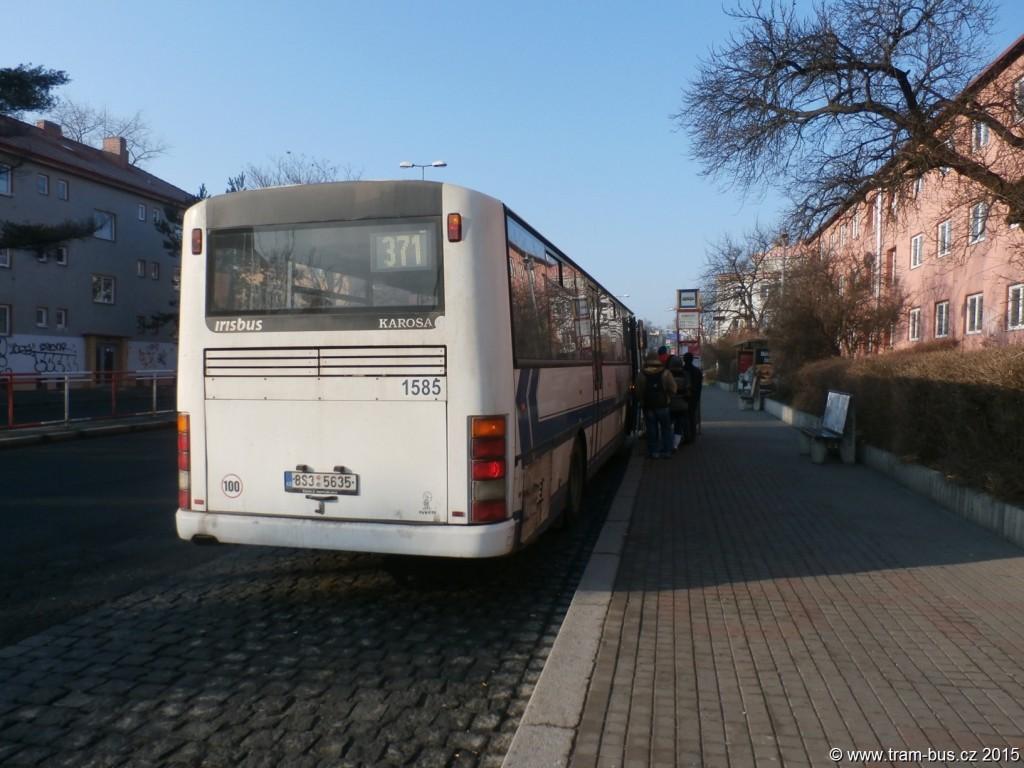 3453 - linka 371 Kobylisy DPP Karosa C 954 1585