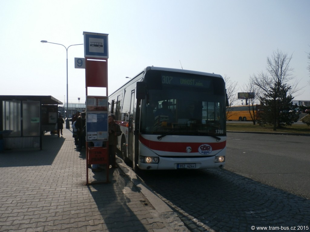 3491 - linka 307 Zličín DPP Iveco Crossway LE 12M 1396