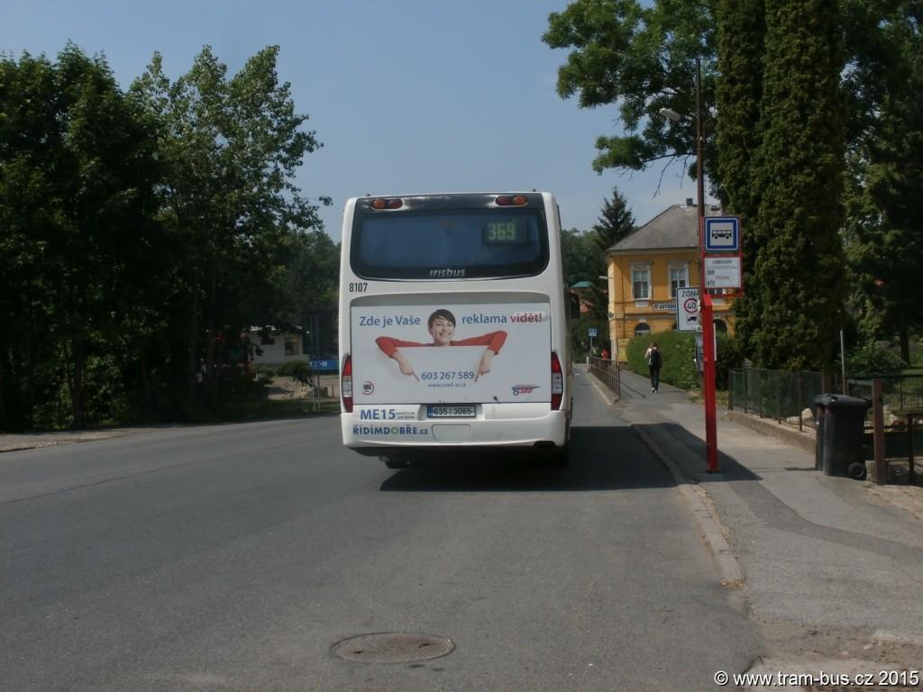 3998 - linka 369 Liběchov ČSAD SČ Iveco Crossway 12M 8107